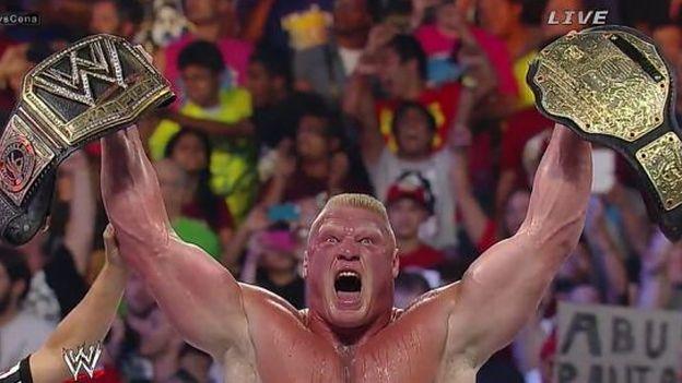 Brock Lesnar derrotó a John Cena y se coronó campeón de la WWE en el SummerSlam 2014 #Depor