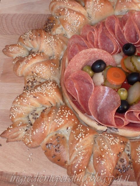 L'ingrediente perduto: Ancora pane turco...centrotavola di pane per un br...
