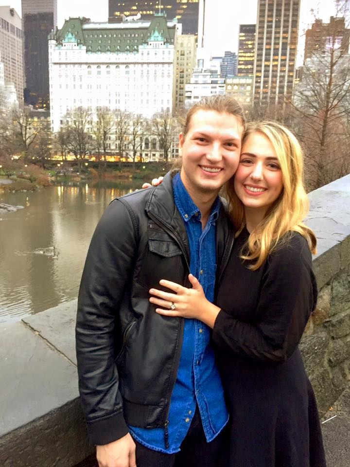 One of Duck Dynasty's family members, Reed Robertson, became engaged to girlfriend Brighton Thompson in New York City's Central Park during a Christmas holiday trip. <br/>Reed Robertson/Instagram
