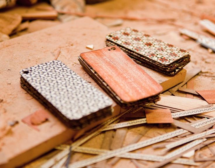 Taracea wood backs for IPhone