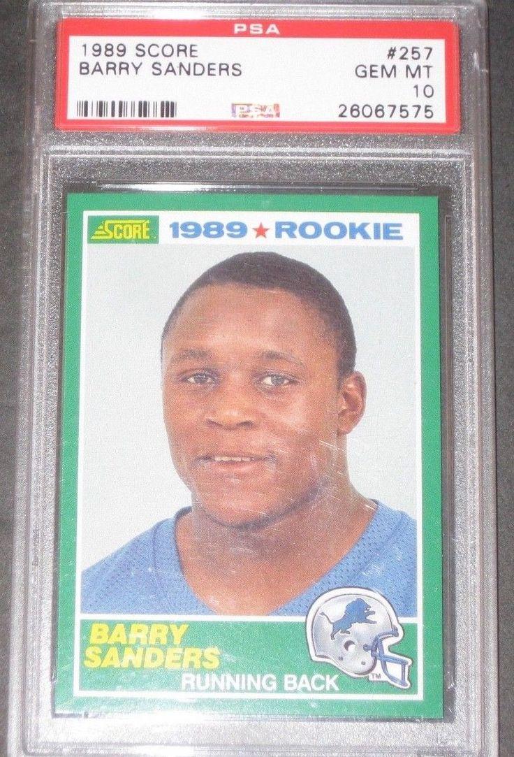 Psa 10 gem mint 1989 score barry sanders rookie football