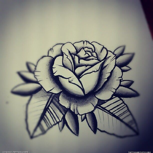 img257165 rose4 black and grey rose tattoo flash y pinterest traditional and grey. Black Bedroom Furniture Sets. Home Design Ideas