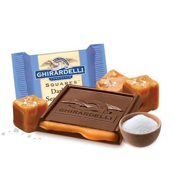 Dark & Sea Salt Caramel SQUARES - Case Pack. The husband loves these! Must remember to buy some for Father's Day :) #GhirardelliChocolate