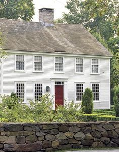 colonial exterior no shutters - Google Search