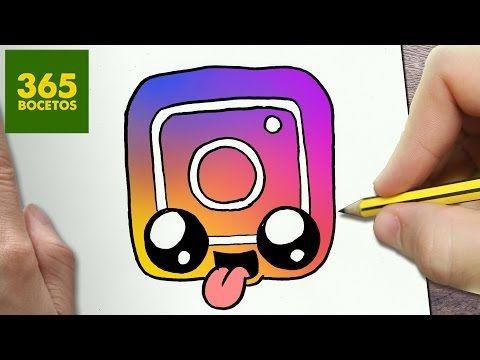 COMO DIBUJAR LOGO INSTAGRAM KAWAII PASO A PASO - Dibujos kawaii faciles - draw a logo Instagram - YouTube