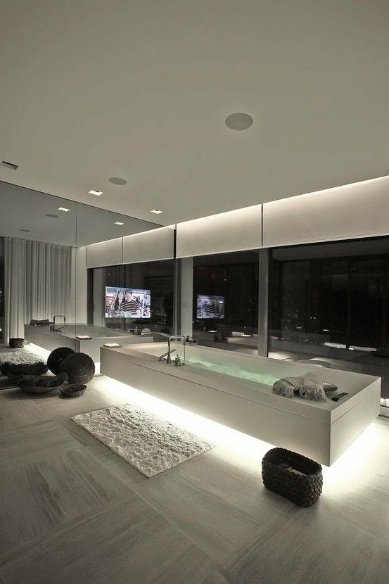 modern home, minimalistic, futuristic interior, future home, futuristic bathroom, tv, futuristic furniture, futuristic interiror design,bath...: