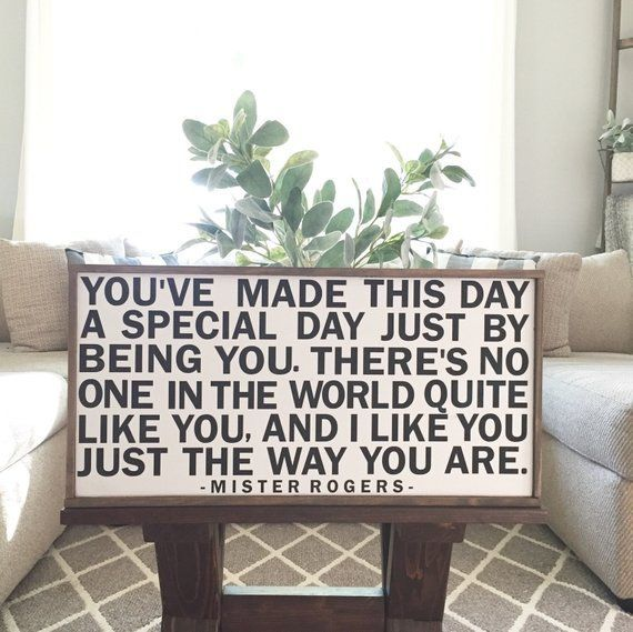 Mister Rogers Quote Wood Sign Etsy Mr Rogers Quote Mr Rogers Mister Rogers Neighborhood Mr rogers living room background