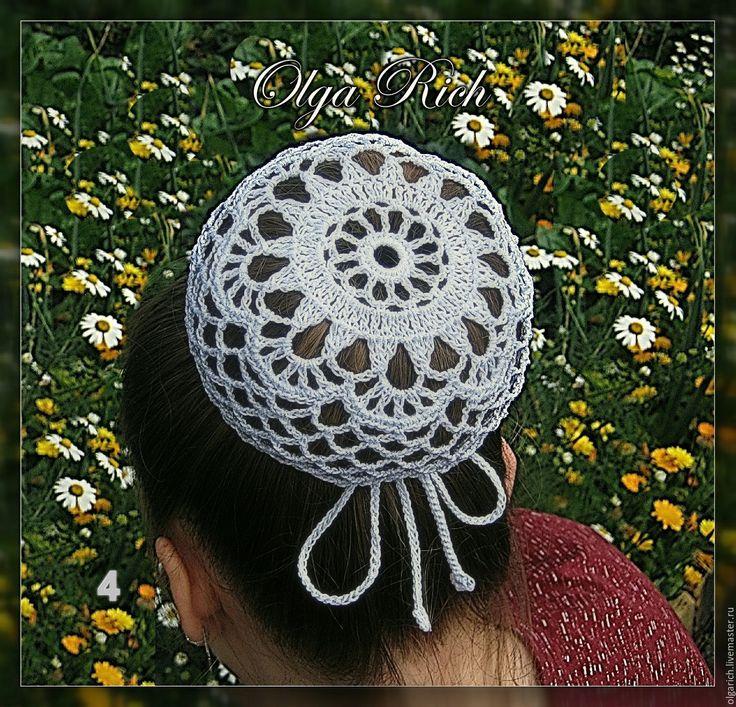 Купить Сеточка на пучок волос. 5 вариантов - белый, танцевальная одежда, сеточка на пучок