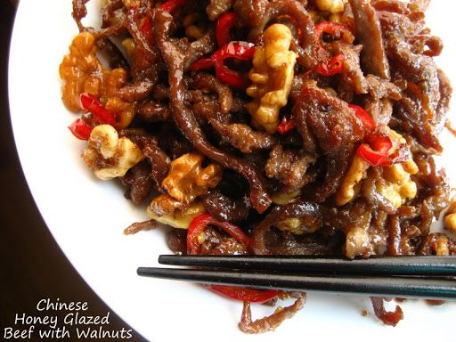 Chinese Honey Glazed Beef with Walnuts - full details→ http ...