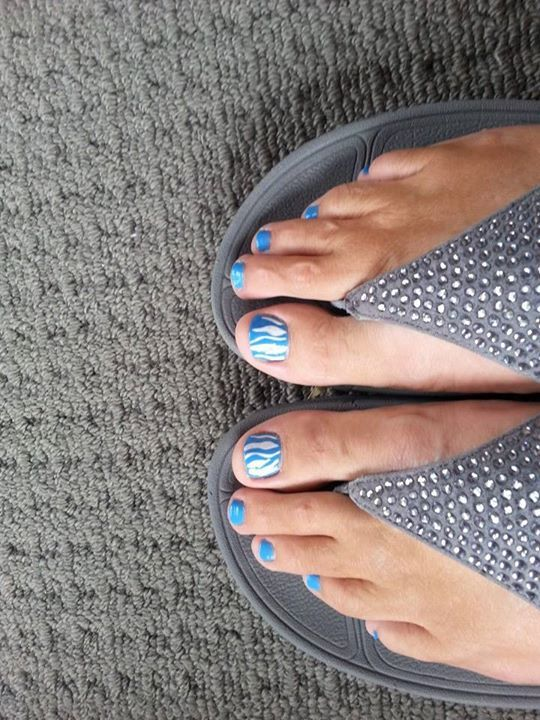 Joyce Clayden -  Taylors shoes an painted toenails a match made in heaven.