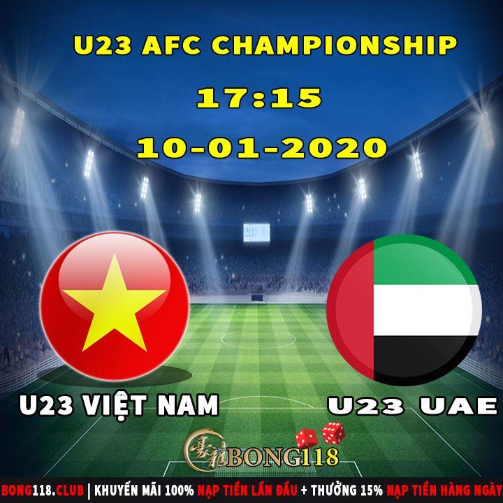 Afc U23 Championship U23 Vietnam Vs U23 Uae 10 01 2020 17 15pm