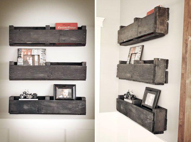 Rustic Shelves | Creative Ways to Repurpose Pallets