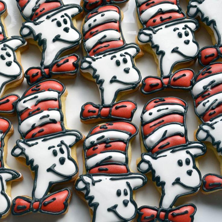 Dr Suess sugar biscuits