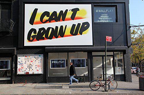 """I Can't Grow Up"" New York City Wall Art, Giclee Prints B... https://www.amazon.com/dp/B01ACMS278/ref=cm_sw_r_pi_dp_x_VwUTybHC5AEJF"