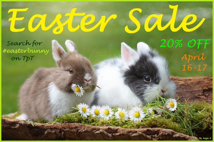 20% OFF Easter Sale!!! #easterbunny
