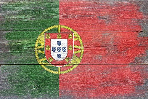 Rustic Portugal Country Flag 24x36 Giclee Gallery Print Wall Decor Travel Poster