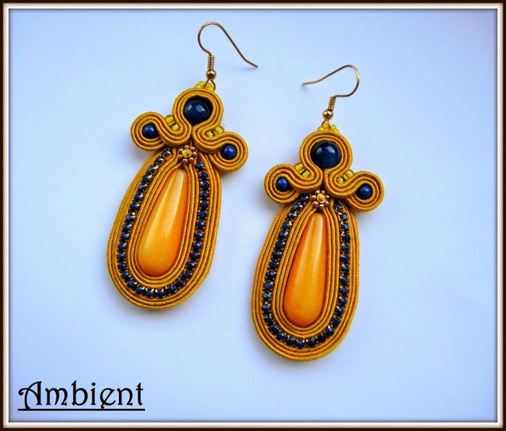 Soutache earrings http://www.ambient4you.blogspot.com/2014/11/88-kolczyki-sutasz.html