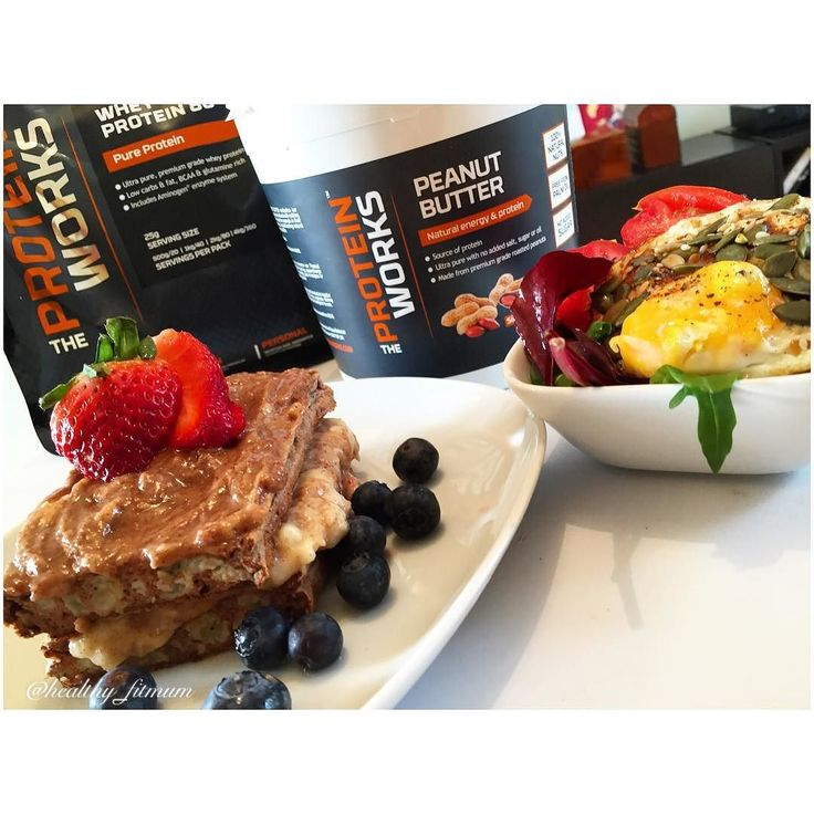 good morning guys. Nothing better than  a healthy protein breakfast for a good starting.  Today is all about @theproteinworks . So delicious.   low carb banana protein pancake I used 3 egg white 1 tsp cinnamon stevia 1/2 banana 1 tsp white chocolate whey @theproteinworks . Filling with mashed banana and peanut butter @theproteinworks  On the top chocolate whey @theproteinworks mixed with the #theproteinworks  peanut butter. Just one word resumes all. It was delicious. I also had egg with…