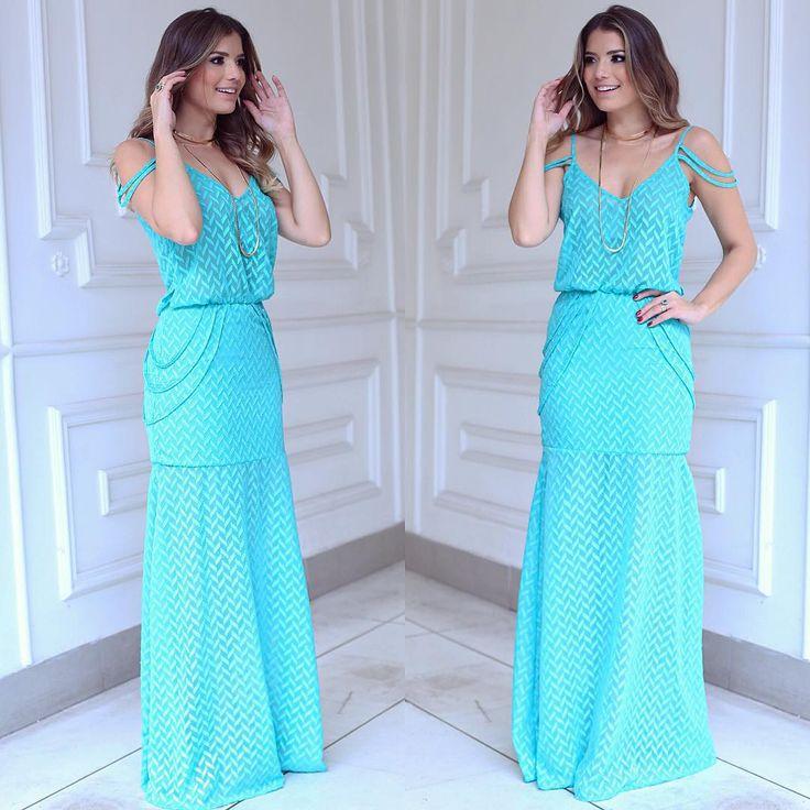 """{Turquoise}  Vestido @esmeral_loja Coisa mais linda né? • #lançamentoesmeral #blogtrendalert"""