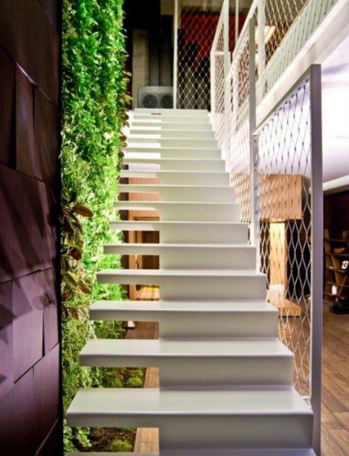 Modern white stairs