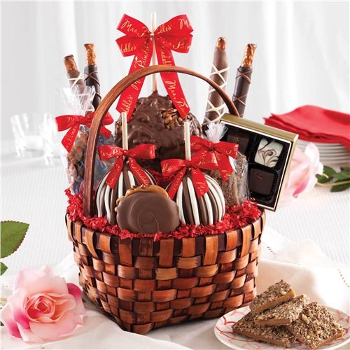 Grand Deluxe Caramel Apple Love Basket | Mrs. Prindable's Valentine's Day Collection 2015