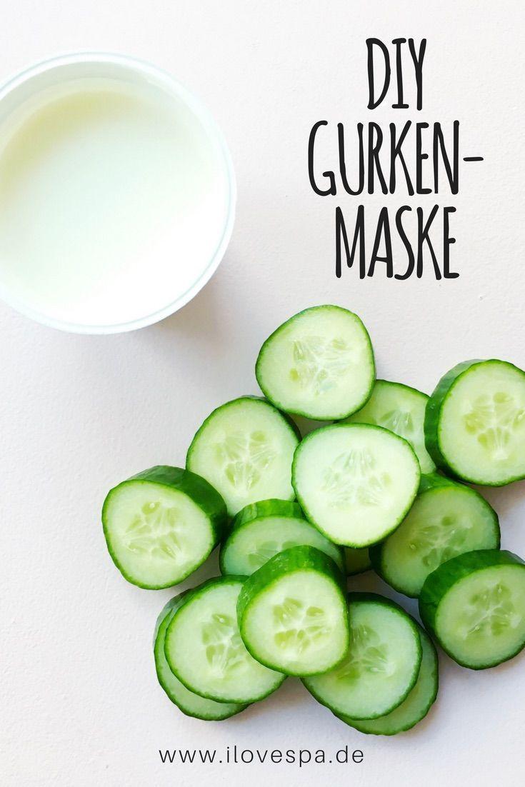 DIY Gurkenmaske selber machen – Gurken Gesichtsmaske selbermachen #diy #gurkenma…
