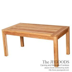 Buy Indonesian furniture dining table at factory price in Jepara Goods Woodworking. Buy furniture minimalist teak dining table Jepara manufacture wholesale