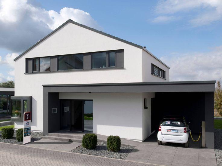 Musterhaus einfamilienhaus mit garage  Die 25+ besten Musterhaus Ideen auf Pinterest | Hauspläne, moderne ...