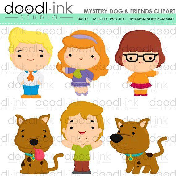 Mystery Dog Friends Digital Clipart Haunted Horror Cartoon Etsy Horror Cartoon Clip Art Cartoon Clip Art