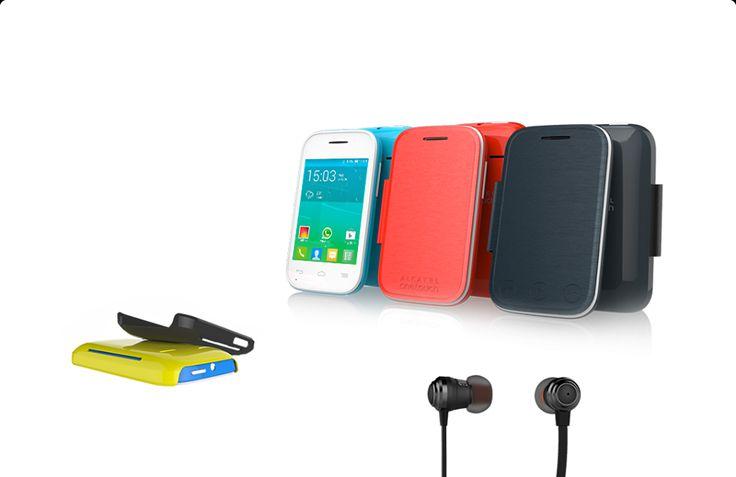 """ALCATEL ONETOUCH anuncia en el #MWC2014 el nuevo FIT POP: un teléfono de 2,8"""" diseñado para los aficionados al deporte: con auriculares deportivos, brazalete para llevarlo con comodidad, 5 fundas traseras de distintos colores y otra tipo flip semitransparente que además trae controles dedicados para el reproductor de música. Lindo, ¿verdad?"""