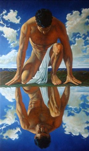 best narcissus images painting sculptures and  narcissus john woodrow kelley