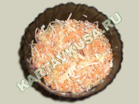 салат из капусты с морковью | пошаговый фото-рецепт