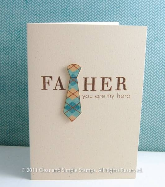 Great Father's Day card! Easy card for kids to do.