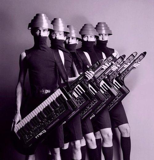 DEVO with their Moog Synths