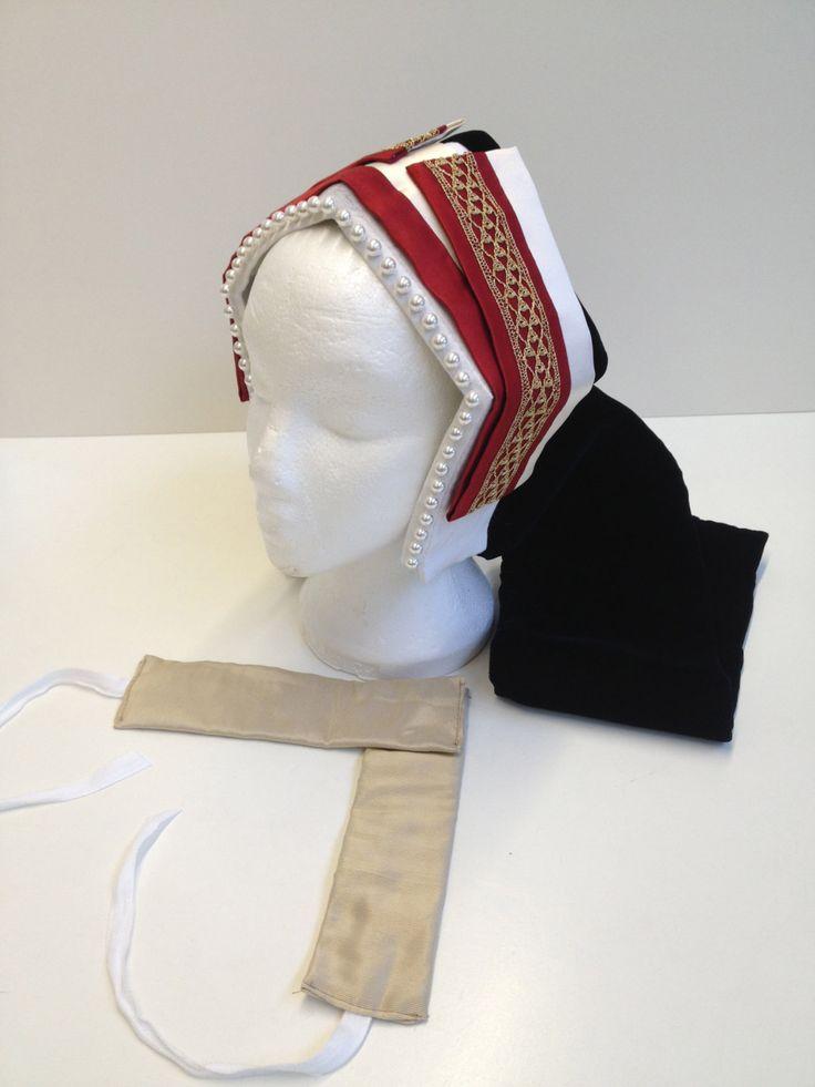 Patterns for Tudor Ladys Bonnets Frontlets by TheTudorTailor