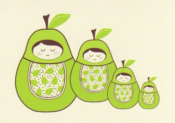 postcardNesting Dolls, Cards Sets, Girls Generation, Pears Girls, Notecards Supplies, Nests Dolls, Note Cards, Dolls Notecards, Girls Nests