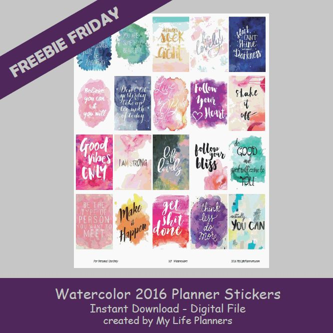 This week's Freebie Friday is featuring Watercolor Quotes. I wanted to continue to do motivational quotes and I thought the watercolor was a good choice for this week. It is a little bit softer than the bold ones that I have been doing. I like that they will mix well with any layout. These stickersRead More