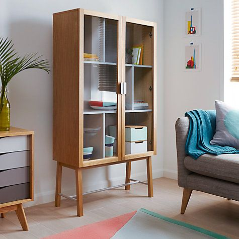 Buy House By John Lewis Espen Tall Glass Cabinet Online At Johnlewis