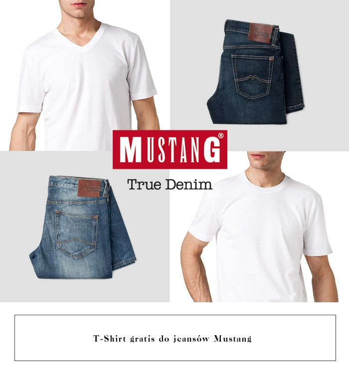 Tshirt gratis do jeansow Mustang! #branpl #jeans #tshirt #mustang #basic #promocja #promotion