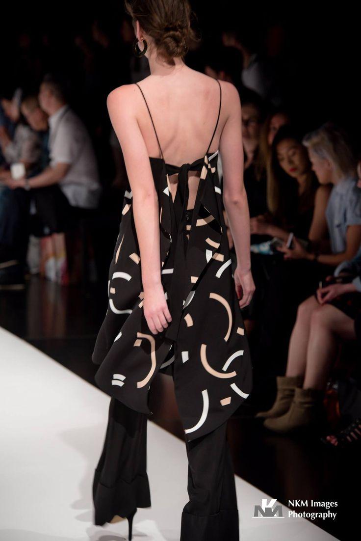 AFF16 :: 'Back To You Print Dress' :: Black Spencer Shapes :  http://bit.ly/2fLwITg