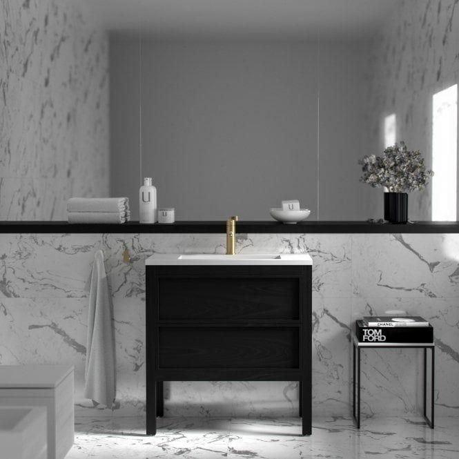 Claridge Black Freestanding Bathroom Vanity Unit 800 Black Vanity Bathroom Bathroom Freestanding Freestanding Vanity Unit
