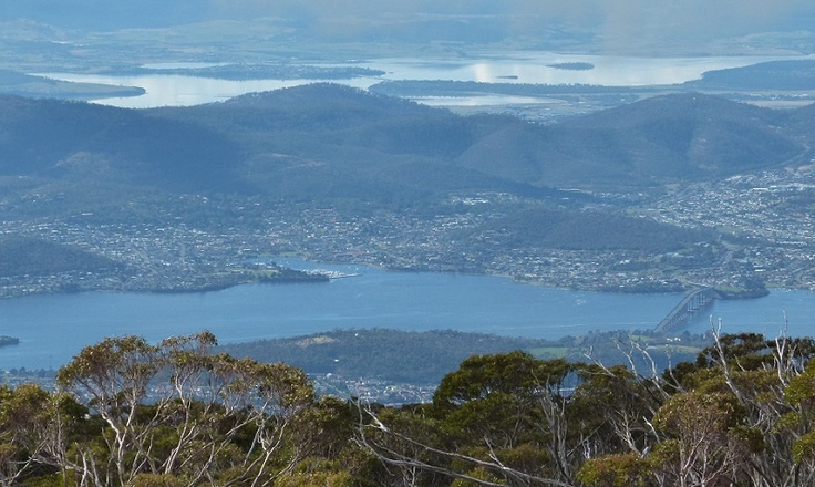 Views from Mount Wellington