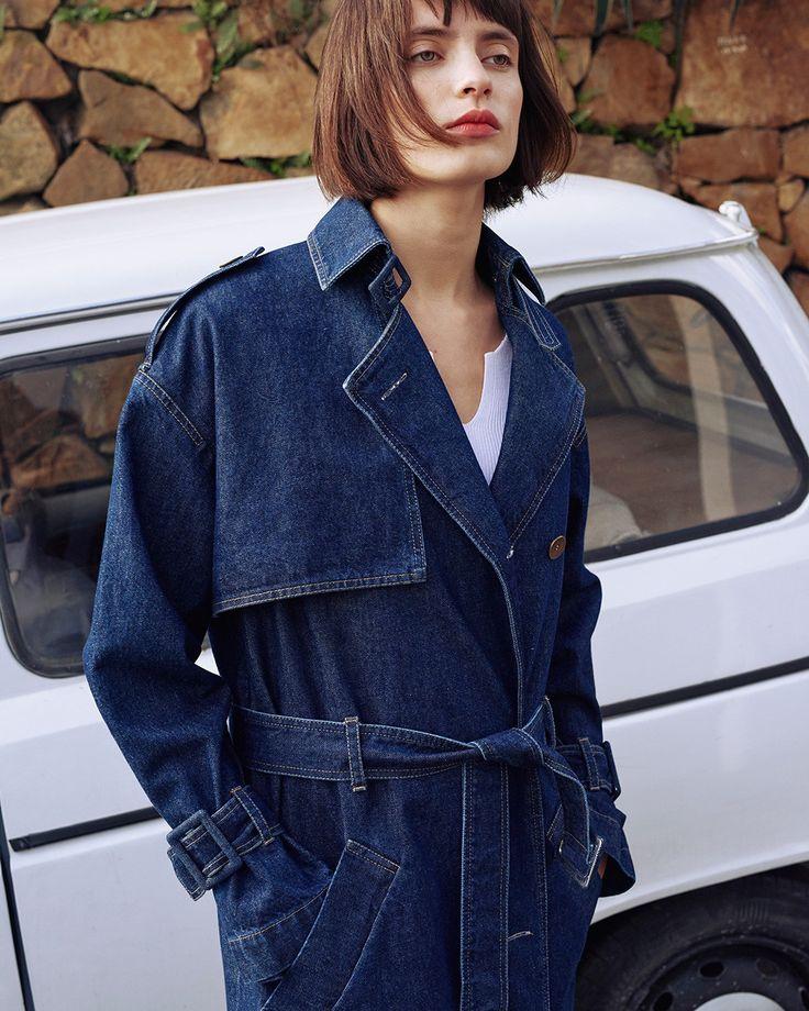 #Nanushka BERTA Trench Coat, Pure Blue