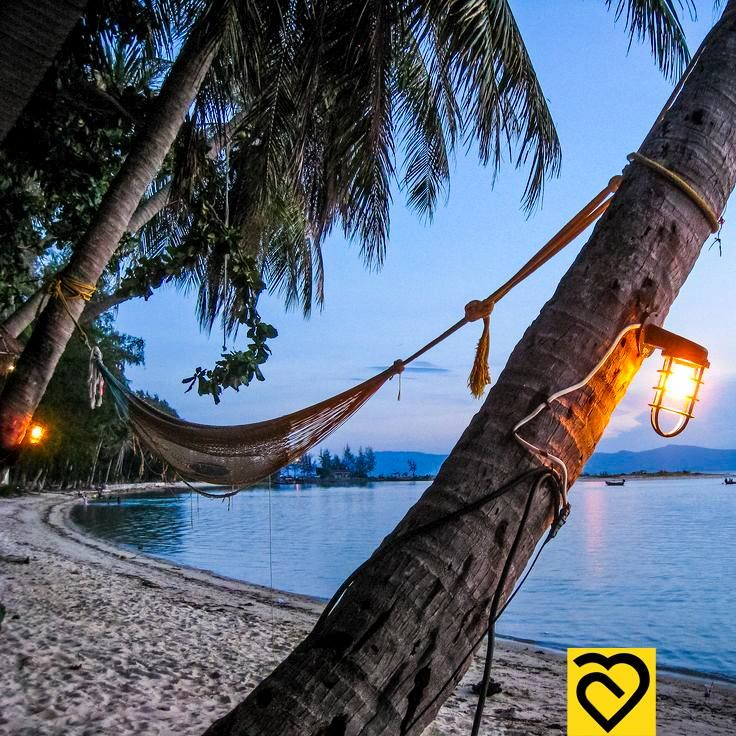 Admiring the beautiful beach of Koh Phangan from a hammock...the most relaxing thing one can do!