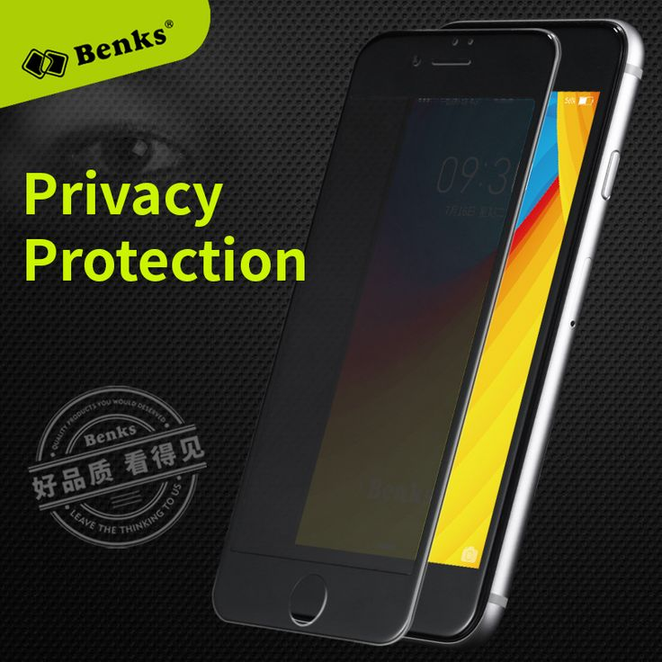 Benks Anti Spy Tempered Glass Film for iPhone 7 Smartphone Screen Protector for iPhone7 Plus Mobile Phone pelicula de vidro New