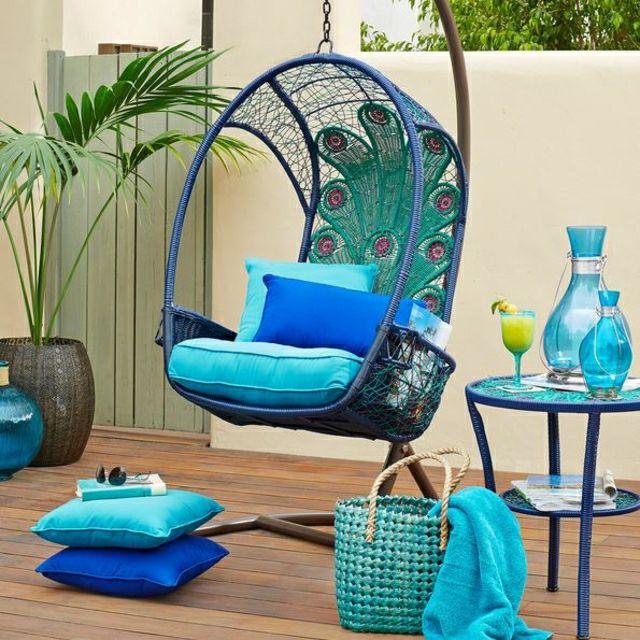 Balançoire turquoise pour une ambiance chaleur d'été