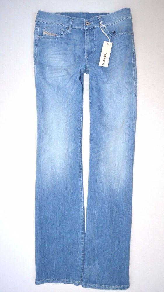 NEW Ladies DIESEL BOOTZEE ST 0664Q Stretch Bootleg JEANS woman W27 L30 size 8,10