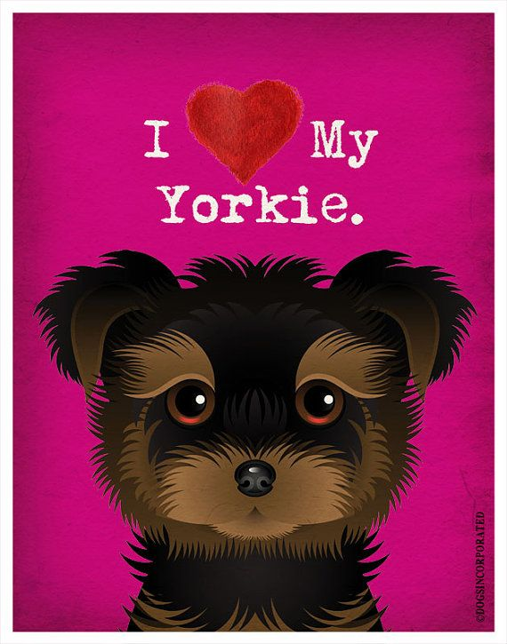 I+Love+My+Yorkie++I+Heart+My+Yorkie++I+Love+My+by+DogsIncorporated,+