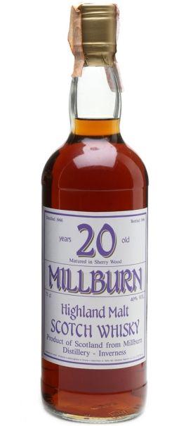 Millburn 20 yo Highland Malt Scotch whisky distilled in 1966 and bottled in 1986 for the italian market (Sestante import)