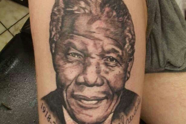 The late great Nelson Mandela tattoo